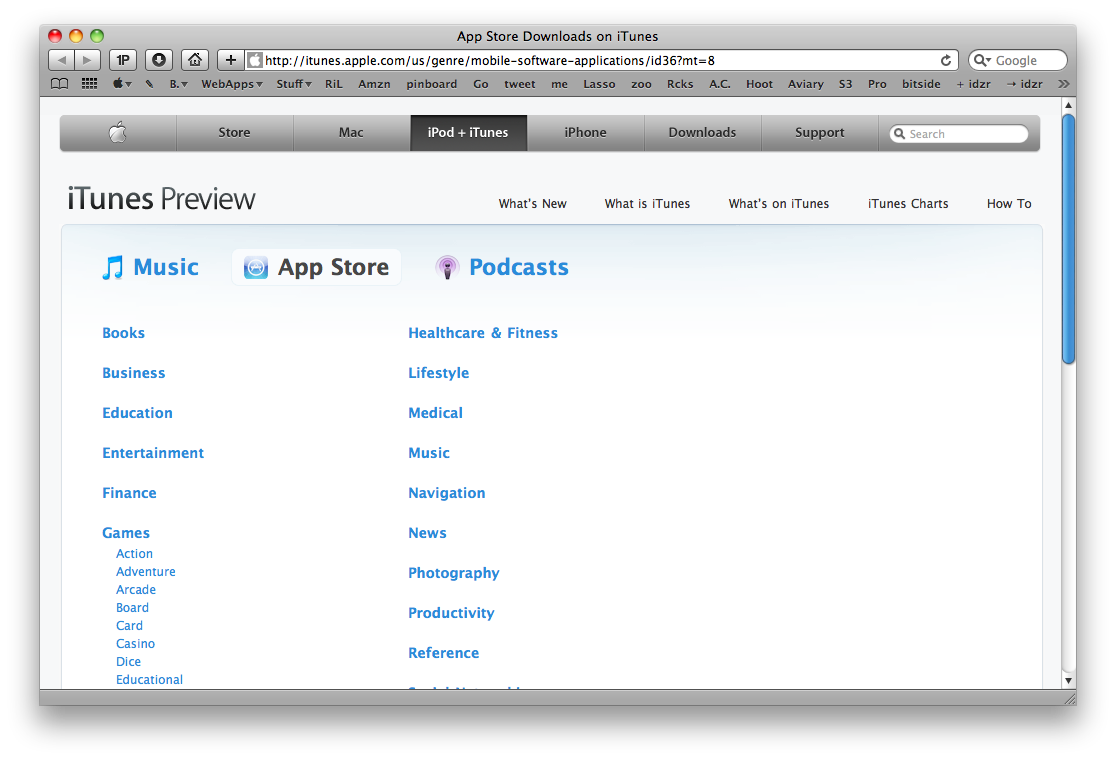 App Store Browser