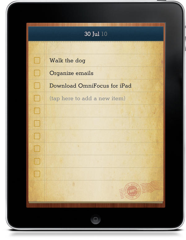 Today's List: Beautiful Todo List for iPad [2 Codes Up for Grabs ...
