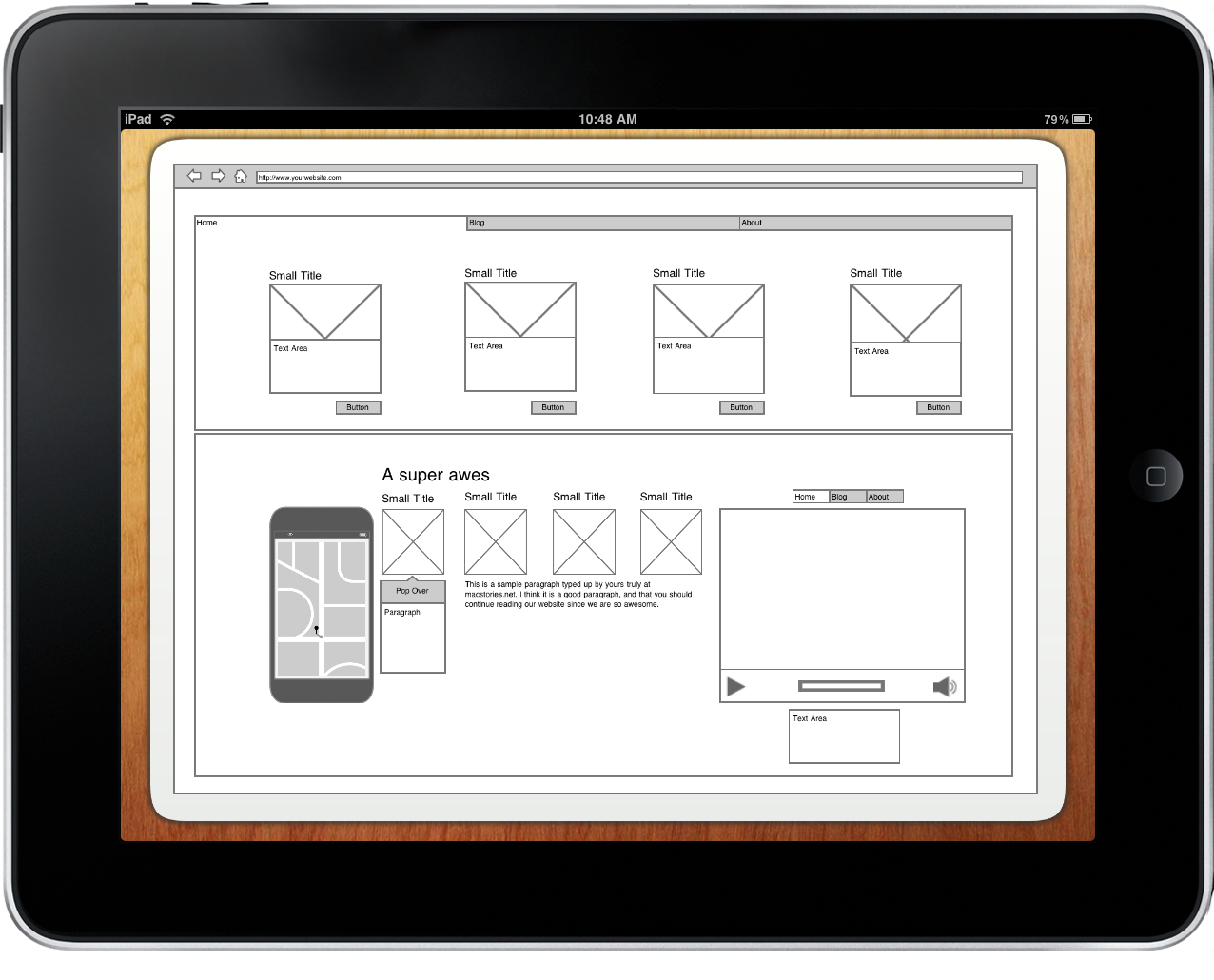 imockups final - Wireframe Ipad